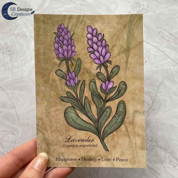 Lavendel-Sage-Planten-Print-A6-Decoratie-3
