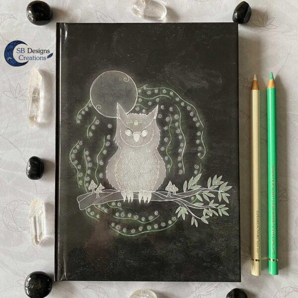 Uil Krachtdier Owl Spirit Animal Notebook Journal A5 Spirits SBDesignsCreations