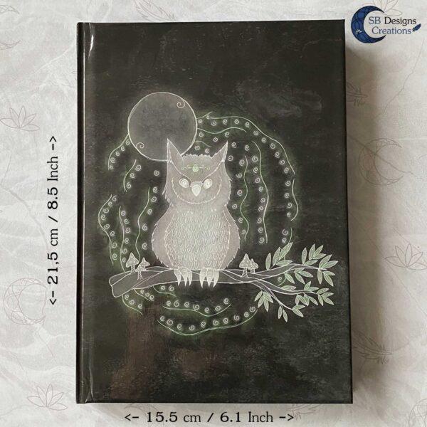 Uil Krachtdier Owl Spirit Animal Notebook Journal A5 Spirits SBDesignsCreations-5