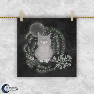 Uil Krachtdier - Owl spirit animal - Artprint Sacred Space