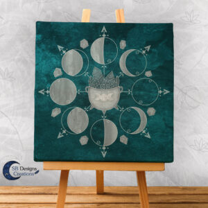 Canvas Art Moonphases Moon Crystals and Cauldron-1