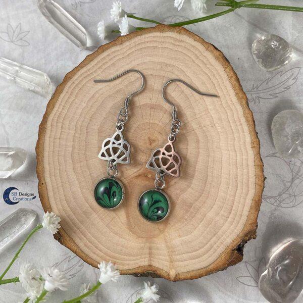 Celtic Heart Oorbellen - Keltische Oorbellen - Pagan Oorbellen - Celtic Witch - SB Designs Creations -1