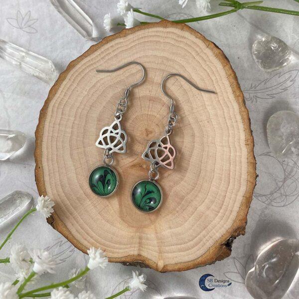 Celtic Heart Oorbellen - Keltische Oorbellen - Pagan Oorbellen - Celtic Witch - SB Designs Creations -2