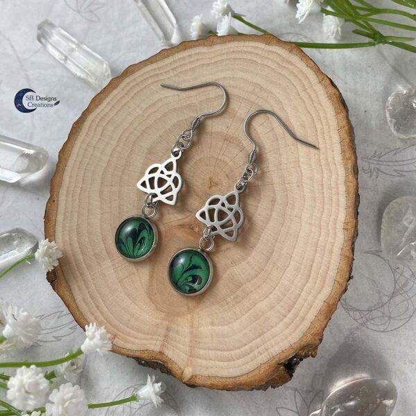 Celtic Heart Oorbellen - Keltische Oorbellen - Pagan Oorbellen - Celtic Witch - SB Designs Creations -3