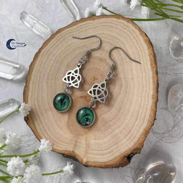 Celtic Heart Oorbellen - Keltische Oorbellen - Pagan Oorbellen - Celtic Witch - SB Designs Creations -4
