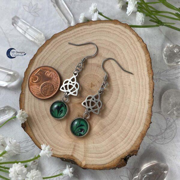 Celtic Heart Oorbellen - Keltische Oorbellen - Pagan Oorbellen - Celtic Witch - SB Designs Creations -5