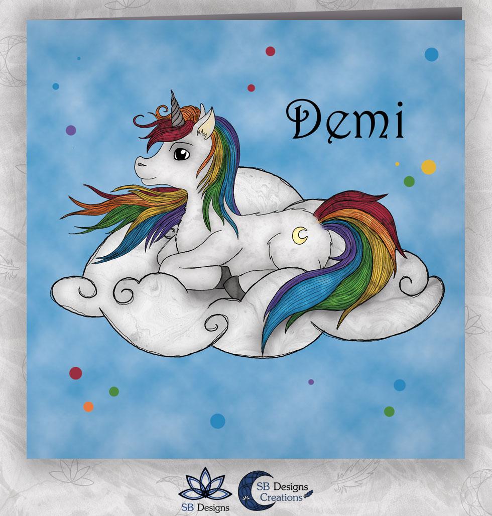 Eenhoorn-Geboortekaartje-Fantasy-Regenboog-Unicorn
