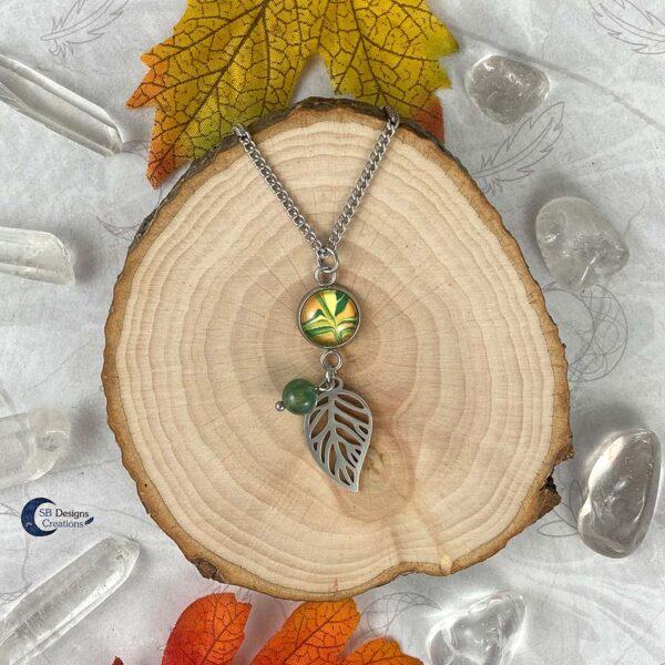 Elvina Blad Ketting Herst Sieraden Autumn Witch SB Designs Creations-1