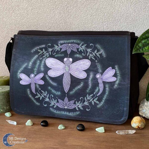 Libelle Krachtdier Schoudertas - Dragonfly Spirit Animal - Spiritual Art - SB Designs Creations-2
