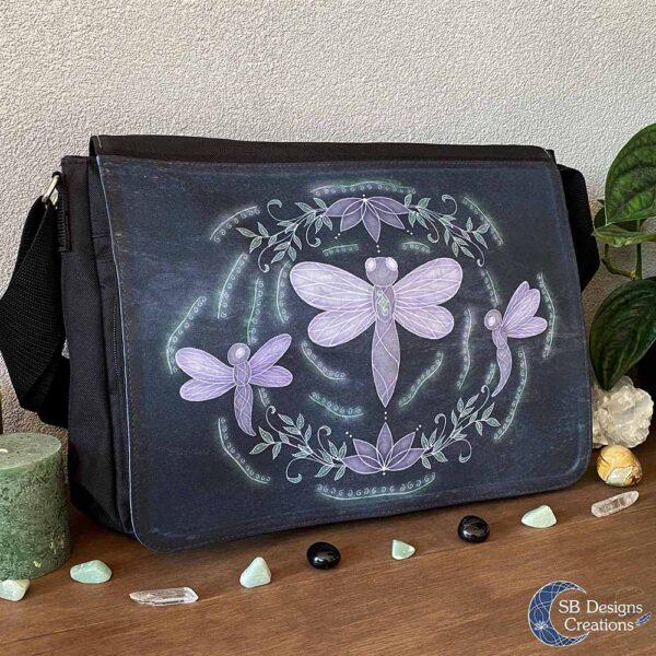 Libelle Krachtdier Schoudertas - Dragonfly Spirit Animal - Spiritual Art - SB Designs Creations-3