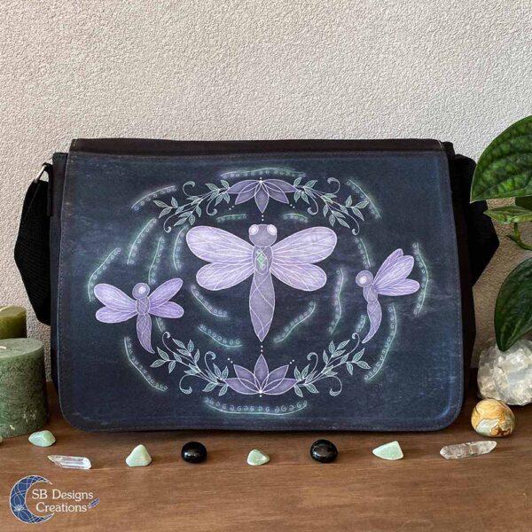Libelle Krachtdier Schoudertas - Dragonfly Spirit Animal - Spiritual Art - SB Designs Creations