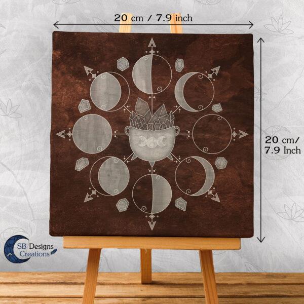 Moonphases Art Canvas Cauldron Brown 2