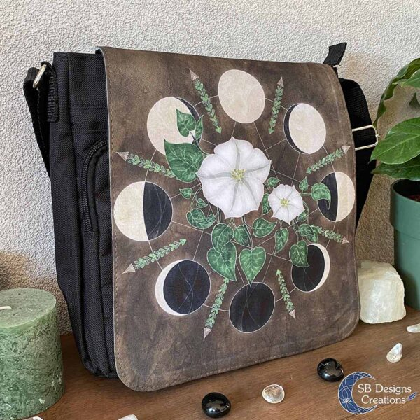 Maanfasen Tas Maanbloemen - Moonflowers - Maankind Tas-2