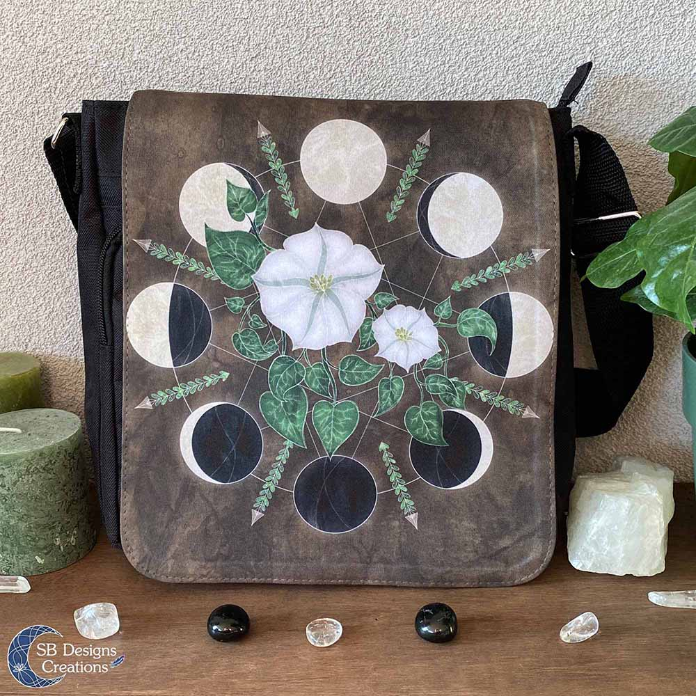 Maanfasen Tas Maanbloemen - Moonflowers - Maankind Tas