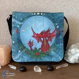 Rode Draakje Schoudertas - Yule Sabbat draken tas - Christmas Dragon - Kers Draakje-1
