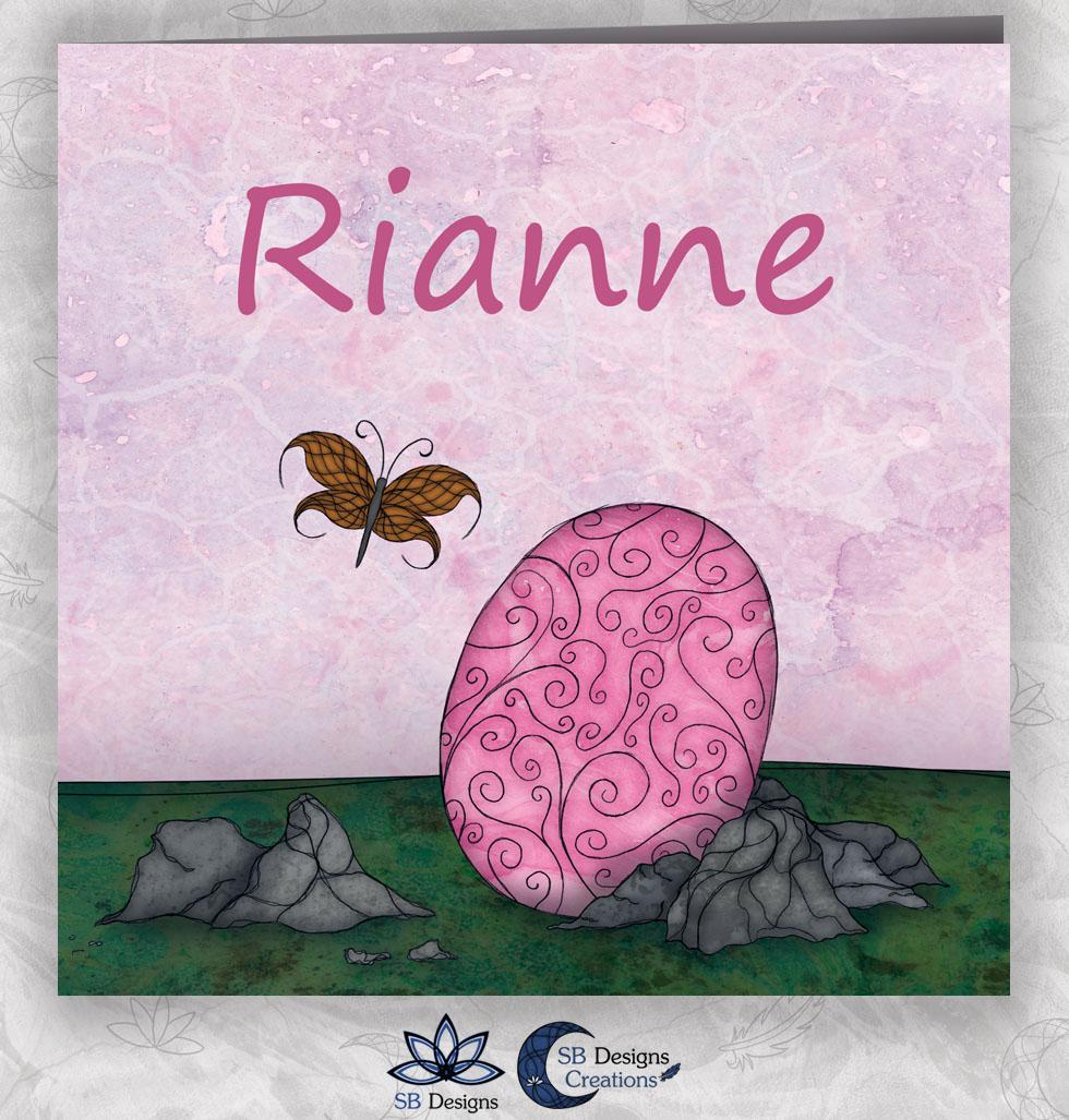 Roze Baby Draakje Geboortekaartje met Draken SB Designs Creations-1