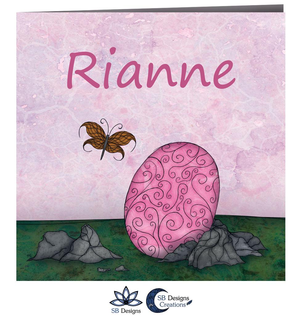 Roze Baby Draakje Geboortekaartje met Draken SB Designs Creations-2