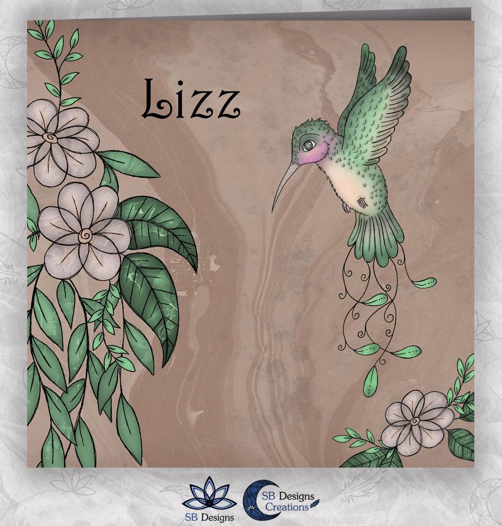 Vogel Bloemen Geboortekaartje Kolibrie - Illustratief kaartje - SB Designs-1