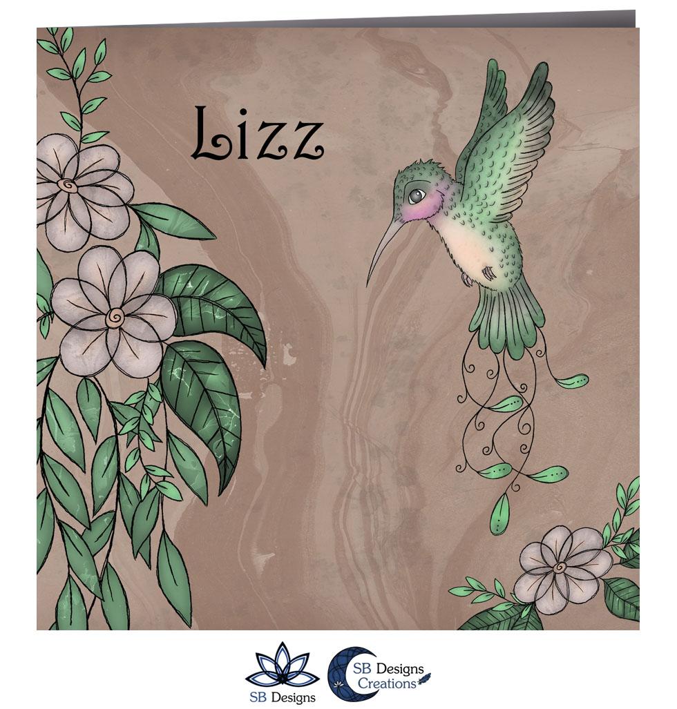 Vogel Bloemen Geboortekaartje Kolibrie - Illustratief kaartje - SB Designs-2