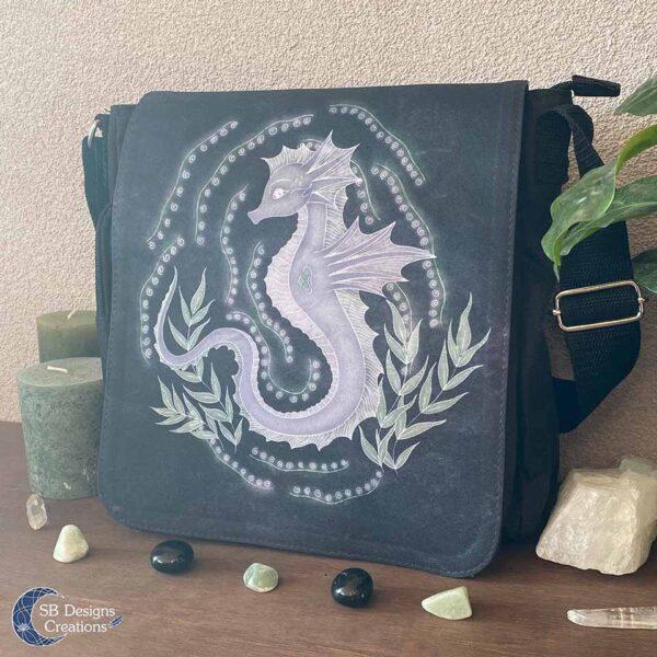Zeepaard Krachtdier Schoudertas Spirit of the Seahorse - Spiritual Art-3
