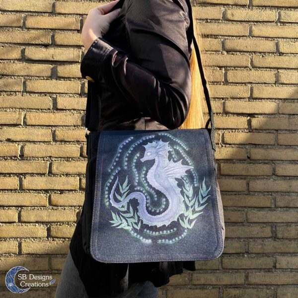 Zeepaard Krachtdier Schoudertas Spirit of the Seahorse - Spiritual Art-4
