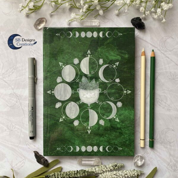 Book of Shadows Moonphases Journal Moon Magick Caudron-1