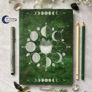 Book of Shadows Maanfasen Journal Maan Magie Caudron-2