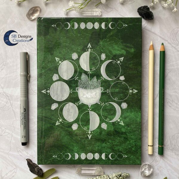 Book of Shadows Moonphases Journal Moon Magick Caudron-2