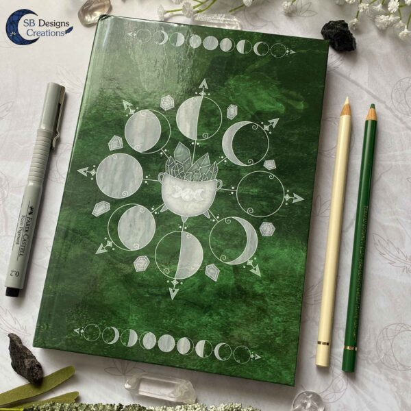 Book of Shadows Moonphases Journal Moon Magick Caudron-5