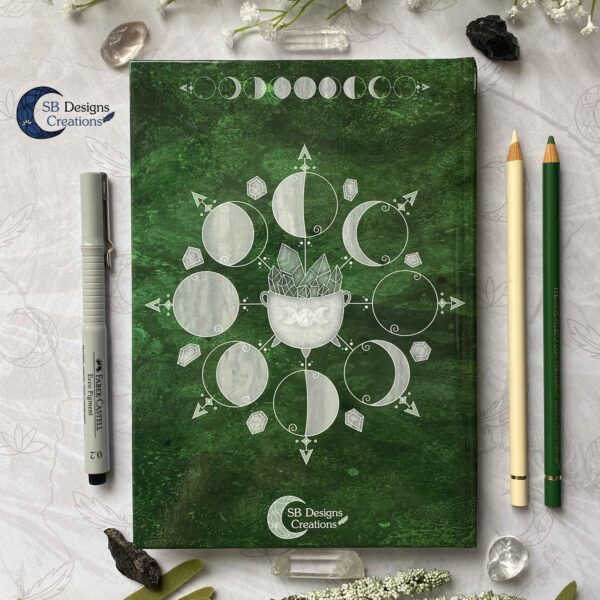 Book of Shadows Moonphases Journal Moon Magick Caudron-7