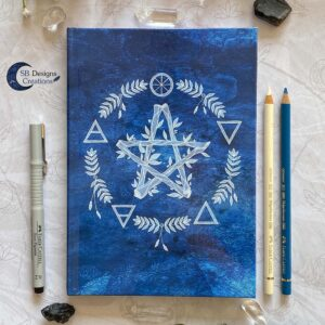 Elementen Magie Pentagram Notitieboek Journal Book of Shadows-1