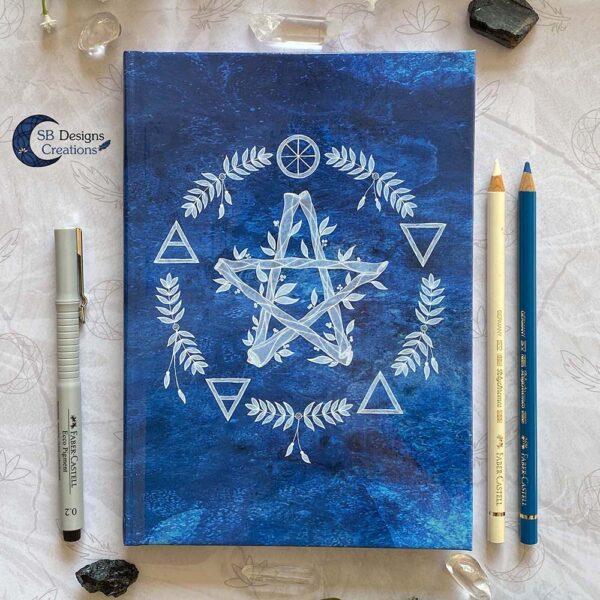 Elementen Magie Pentagram Notitieboek Journal Book of Shadows-1