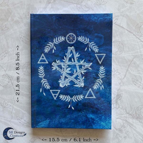 Elementen Magie Pentagram Notitieboek Journal Book of Shadows-2