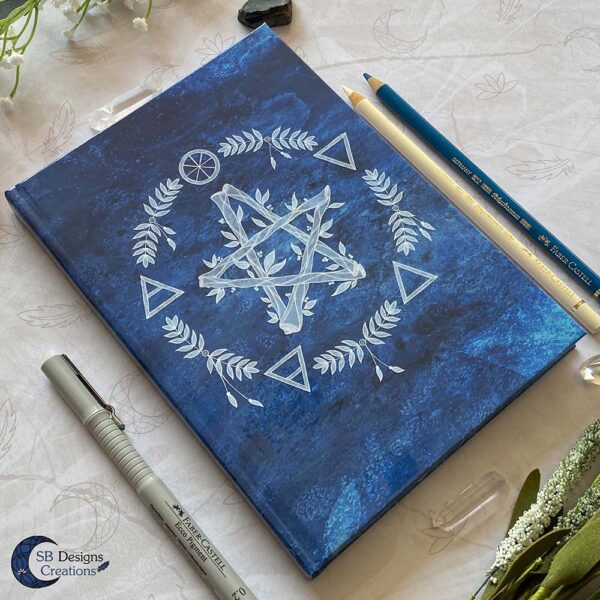 Elementen Magie Pentagram Notitieboek Journal Book of Shadows-3