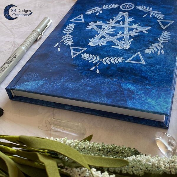 Elementen Magie Pentagram Notitieboek Journal Book of Shadows-5