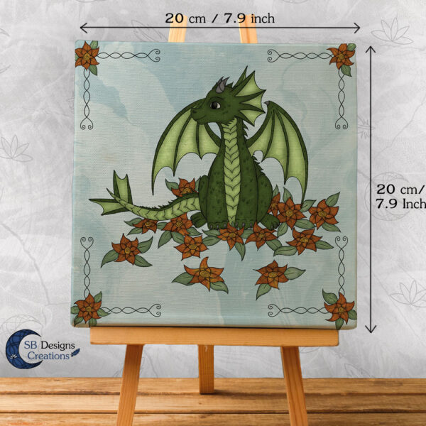 Flower Draakje-Blauw-Baby Draakje Groen - Babykamer Kinderkamer SB Designs Creations-2