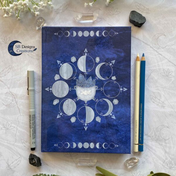 Witch Journal Cauldron Notebook Blue Book of Shadows-1