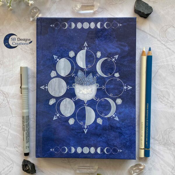 Witch Journal Cauldron Notebook Blue Book of Shadows-2
