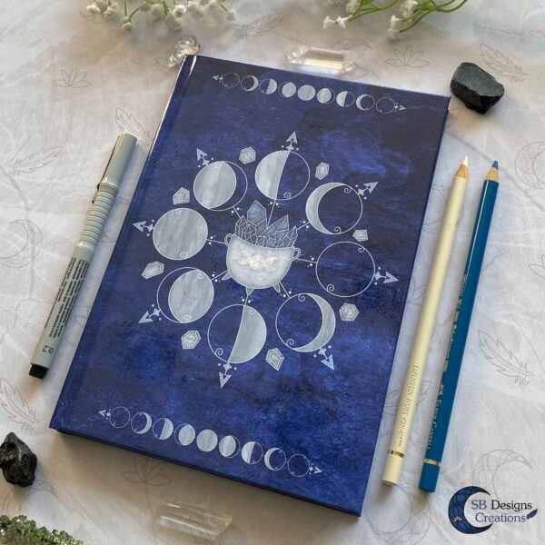 Witch Journal Cauldron Notebook Blue Book of Shadows-4
