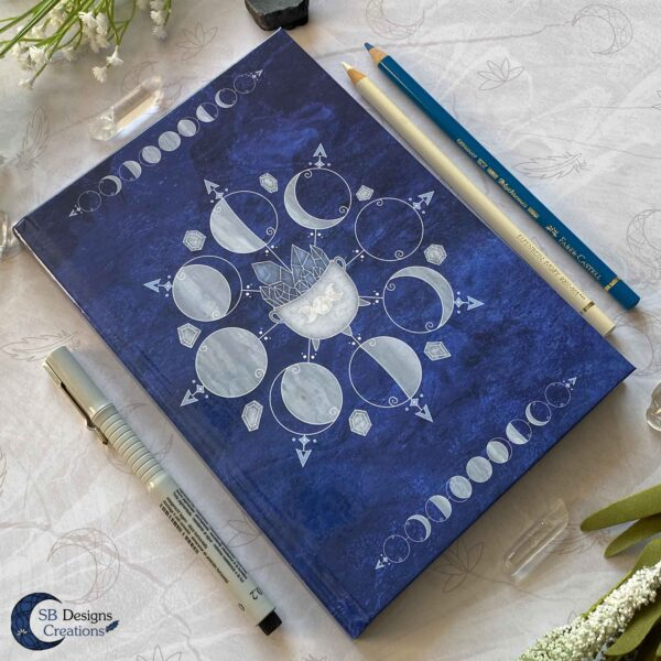 Witch Journal Cauldron Notebook Blue Book of Shadows-5