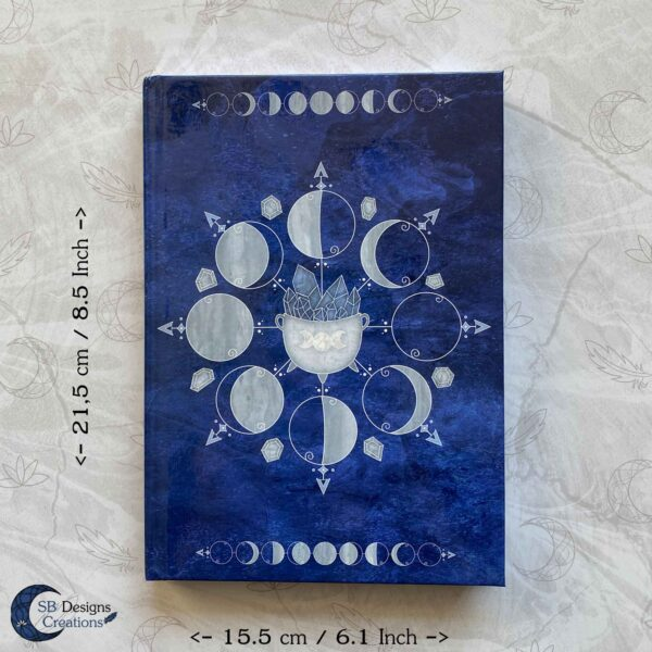 Witch Journal Cauldron Notebook Blue Book of Shadows-6