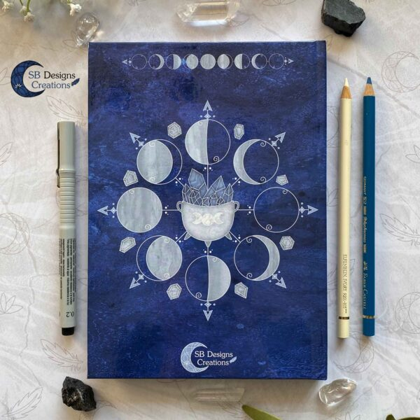Witch Journal Cauldron Notebook Blue Book of Shadows-7