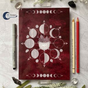 Witch Book Journal Moonmagic Moonphases Red-2