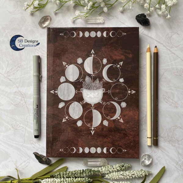 Cauldron Journal Moonphases Notebook A5 Hardcover-1