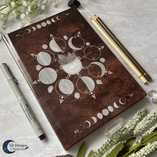 Cauldron Journal Moonphases Notebook A5 Hardcover-3
