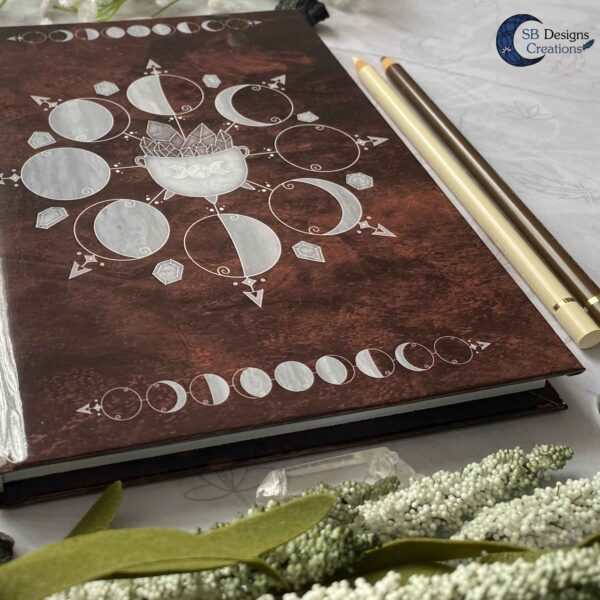 Cauldron Journal Moonphases Notebook A5 Hardcover-4
