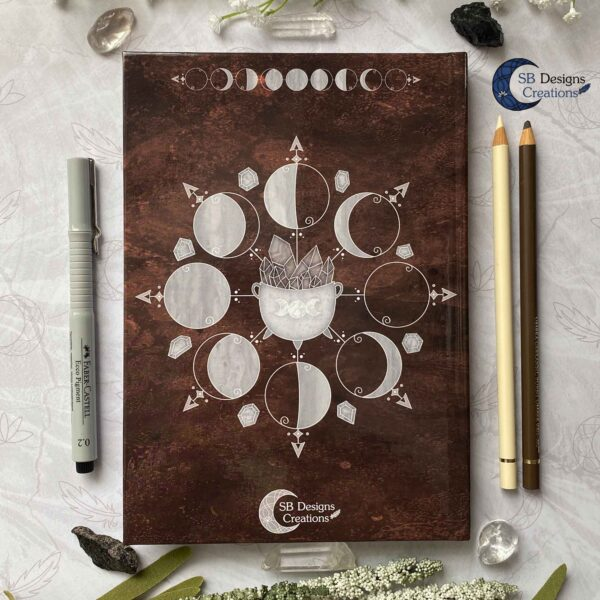 Cauldron Journal Moonphases Notebook A5 Hardcover-6
