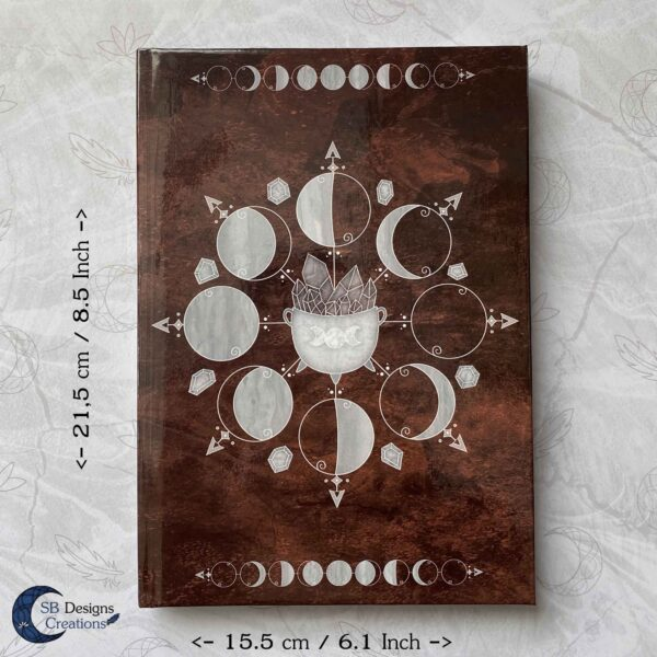 Cauldron Journal Moonphases Notebook A5 Hardcover-7