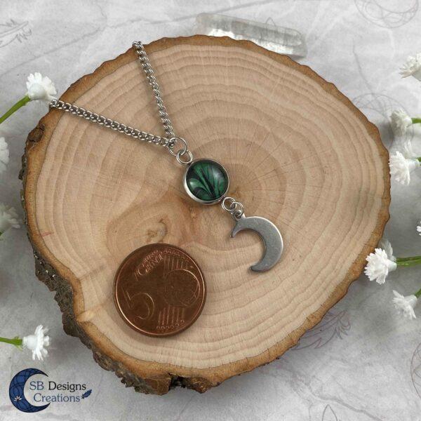 Maan Ketting Groen - Luna Twist - Heks Ketting - Pagan Sieraden-SB Designs Creations-5