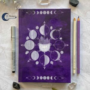 Moonphases Journal Cauldron Notebook Purple-2